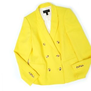 NWT J. Crew Yellow Double Breasted Blazer
